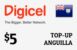 $5.00 Digicel Anguilla Prepaid Wireless Top-Up