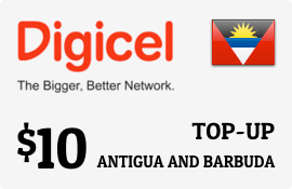 $10.00 Digicel Antigua Prepaid Wireless Top-Up
