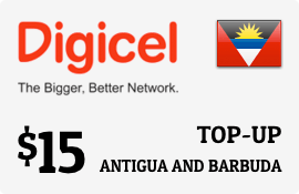 $15.00 Digicel Antigua Prepaid Wireless Top-Up