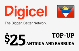 $25.00 Digicel Antigua Prepaid Wireless Top-Up