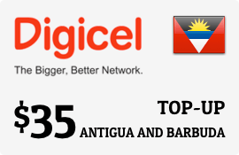 $35.00 Digicel Antigua Prepaid Wireless Top-Up