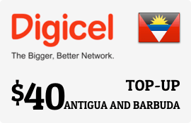 $40.00 Digicel Antigua Prepaid Wireless Top-Up