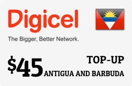 $45.00 Digicel Antigua Prepaid Wireless Top-Up
