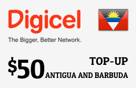 $50.00 Digicel Antigua Prepaid Wireless Top-Up