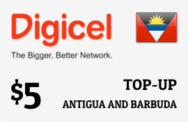 $5.00 Digicel Antigua Prepaid Wireless Top-Up