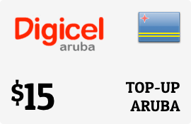 $15.00 Digicel Aruba Prepaid Wireless Top-Up