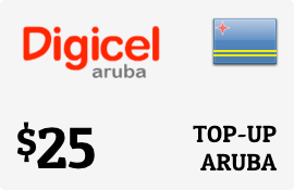 $25.00 Digicel Aruba Prepaid Wireless Top-Up