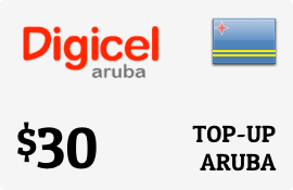 $30.00 Digicel Aruba Prepaid Wireless Top-Up
