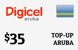 $35.00 Digicel Aruba Prepaid Wireless Top-Up