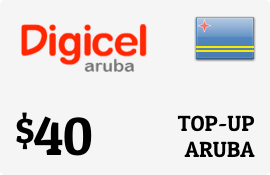 $40.00 Digicel Aruba Prepaid Wireless Top-Up