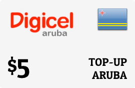 $5.00 Digicel Aruba Prepaid Wireless Top-Up