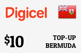 $10.00 Digicel Bermuda Prepaid Wireless Top-Up
