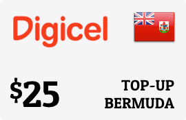 $25.00 Digicel Bermuda Prepaid Wireless Top-Up