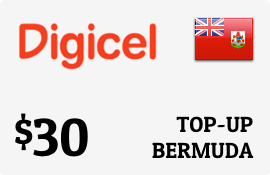 $30.00 Digicel Bermuda Prepaid Wireless Top-Up