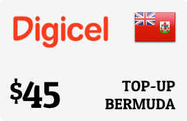$45.00 Digicel Bermuda Prepaid Wireless Top-Up