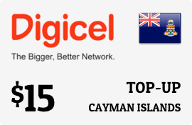 $15.00 Digicel Cayman Islands Prepaid Wireless Top-Up