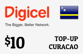 $10.00 Digicel Curacao Prepaid Wireless Top-Up