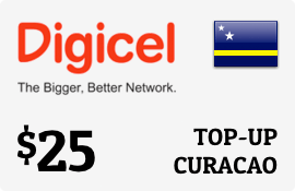 $25.00 Digicel Curacao Prepaid Wireless Top-Up