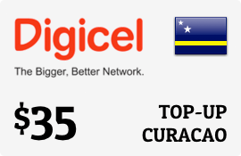 $35.00 Digicel Curacao Prepaid Wireless Top-Up