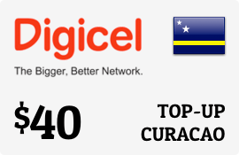 $40.00 Digicel Curacao Prepaid Wireless Top-Up