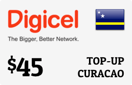$45.00 Digicel Curacao Prepaid Wireless Top-Up