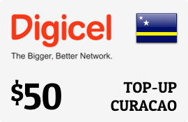 $50.00 Digicel Curacao Prepaid Wireless Top-Up