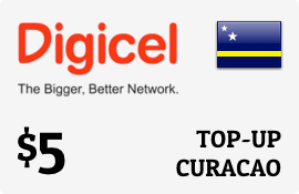 $5.00 Digicel Curacao Prepaid Wireless Top-Up