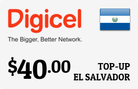 $40.00 Digicel El Salvador Prepaid Wireless Top-Up