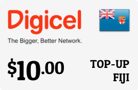 $10.00 Digicel Fiji Prepaid Wireless Top-Up