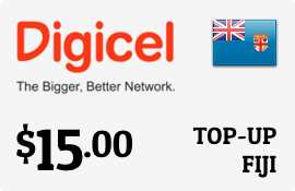 Buy the $15.00 Digicel Fiji Prepaid Wireless Top-Up | On SALE for Only $15.00