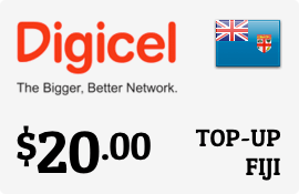 $20.00 Digicel Fiji Prepaid Wireless Top-Up