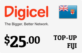 $25.00 Digicel Fiji Prepaid Wireless Top-Up