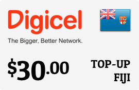 $30.00 Digicel Fiji Prepaid Wireless Top-Up