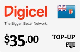 $35.00 Digicel Fiji Prepaid Wireless Top-Up