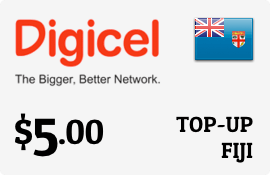 $5.00 Digicel Fiji Prepaid Wireless Top-Up