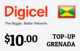 $10.00 Digicel Grenada Prepaid Wireless Top-Up