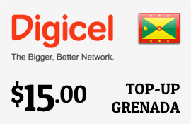 $15.00 Digicel Grenada Prepaid Wireless Top-Up