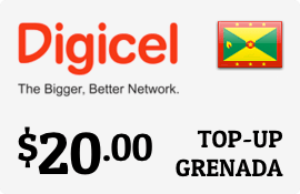 $20.00 Digicel Grenada Prepaid Wireless Top-Up