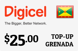 $25.00 Digicel Grenada Prepaid Wireless Top-Up