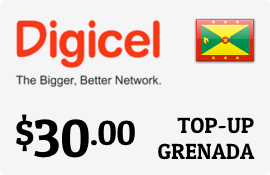$30.00 Digicel Grenada Prepaid Wireless Top-Up