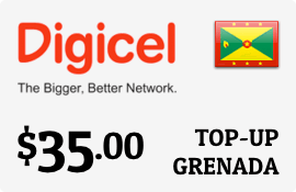 $35.00 Digicel Grenada Prepaid Wireless Top-Up
