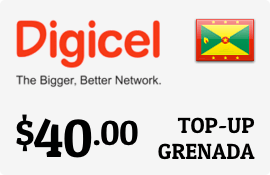 $40.00 Digicel Grenada Prepaid Wireless Top-Up