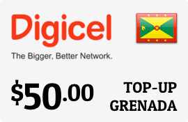 $50.00 Digicel Grenada Prepaid Wireless Top-Up