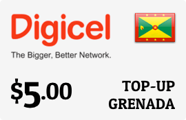 $5.00 Digicel Grenada Prepaid Wireless Top-Up