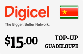 $15.00 Digicel Guadeloupe Prepaid Wireless Top-Up