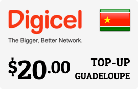 $20.00 Digicel Guadeloupe Prepaid Wireless Top-Up