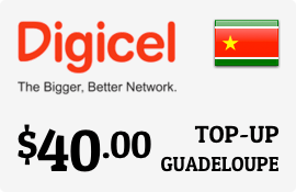 $40.00 Digicel Guadeloupe Prepaid Wireless Top-Up