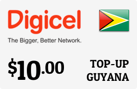 $10.00 Digicel Guyana Prepaid Wireless Top-Up