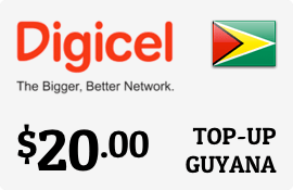 $20.00 Digicel Guyana Prepaid Wireless Top-Up