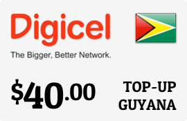 $40.00 Digicel Guyana Prepaid Wireless Top-Up